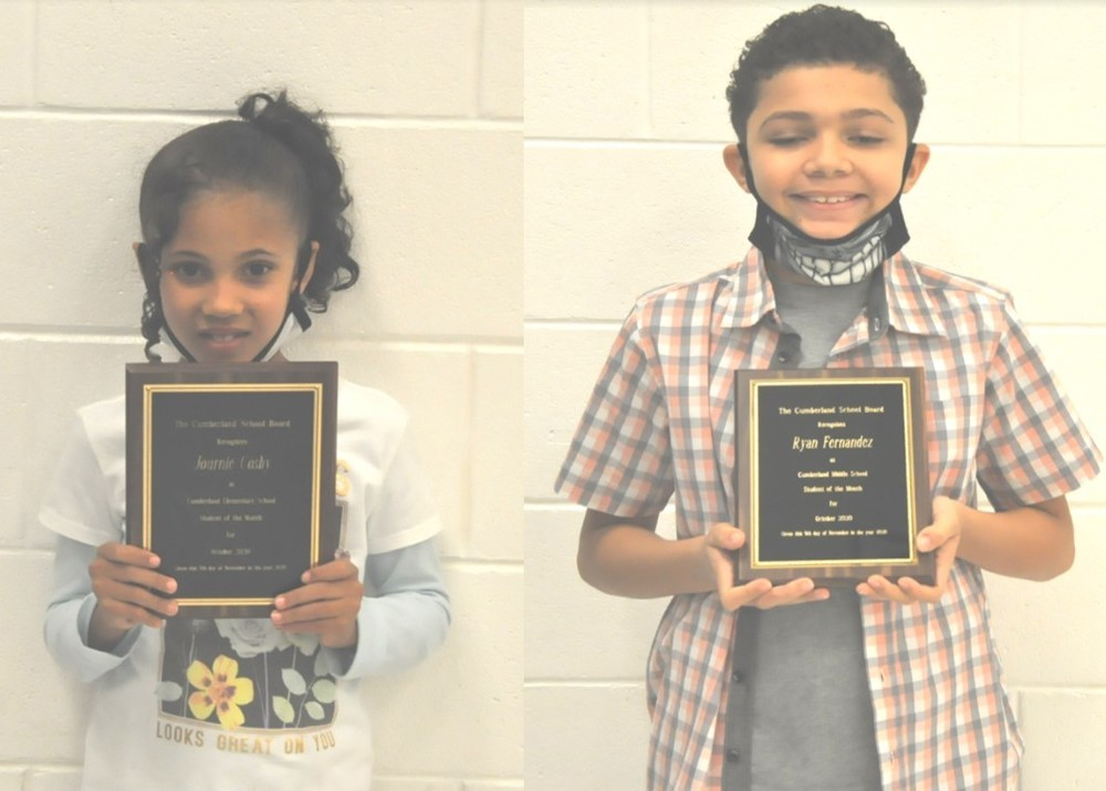 Cumberland School Board Recognizes Students at November Meeting