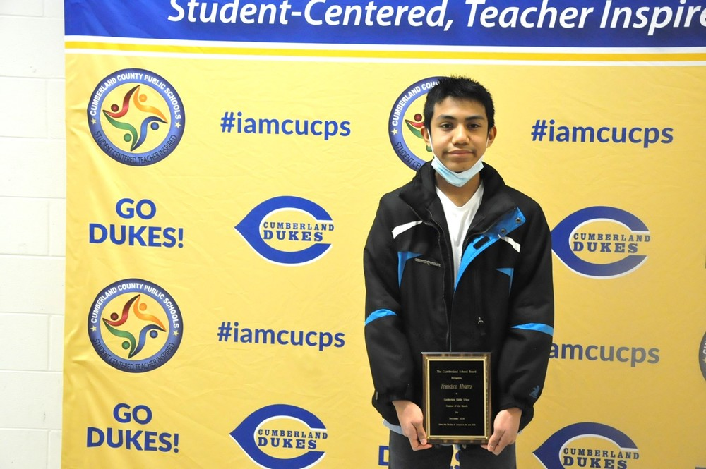 CuCPS Students of the Month Recognized at January Meeting