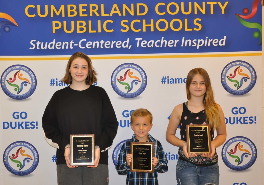 Cumberland School Board Recognizes Students at October Meeting