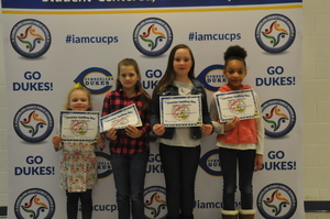 Cumberland School Board Recognizes Spelling Bee Winners