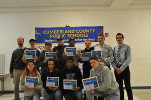 Wrestling Team Recognized by Cumberland School Board