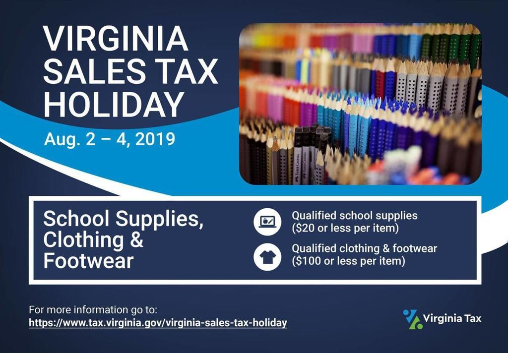 Virginia Tax Free Weekend
